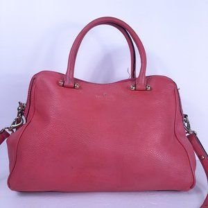 Kate Spade Pink Satchel Pebbled Leather HandBag Cr